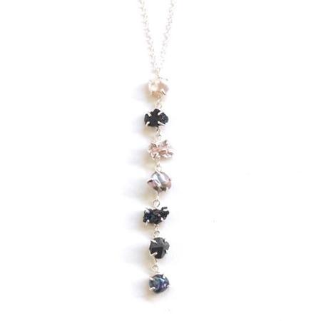 Alana Douvros Jewelry Waterfall Necklace - Silver