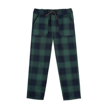 Kids Bonton Woven Check Pants - Green