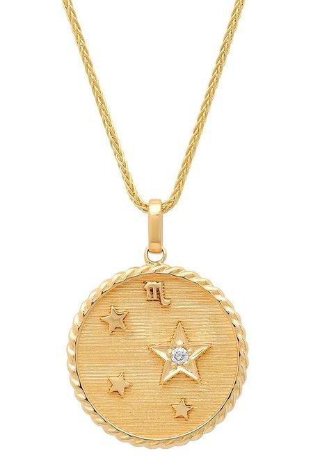 Helena Rose Zodiac Necklace - gold