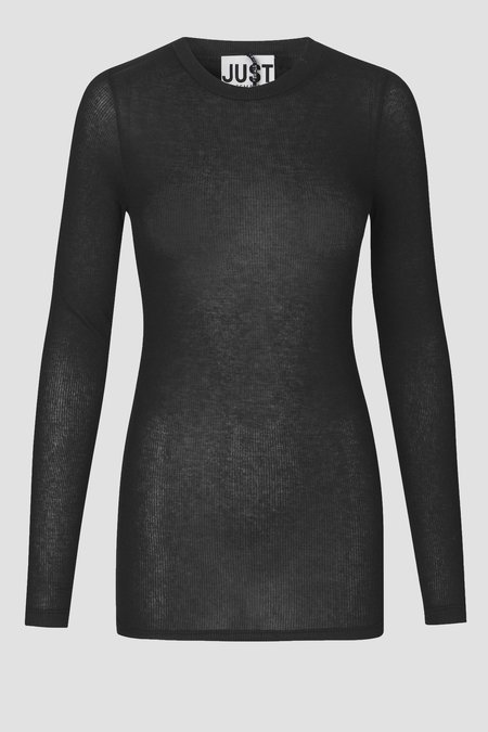 Just Female Millie Is O-Neck TOP - BLACK