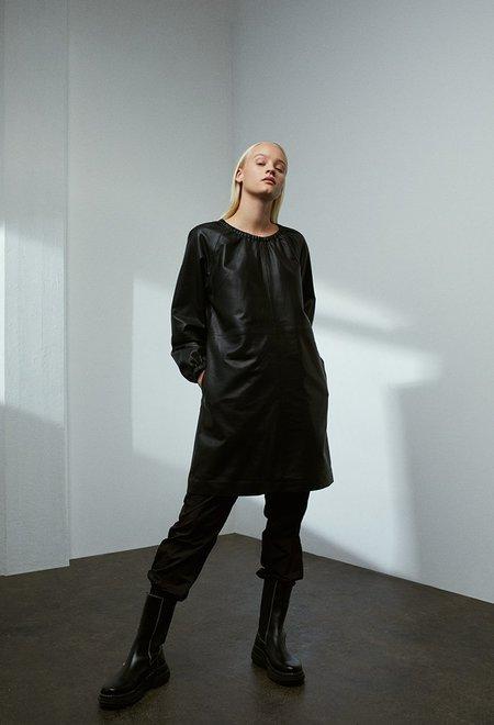 Just Female Roxy Leather Dress - BLACK