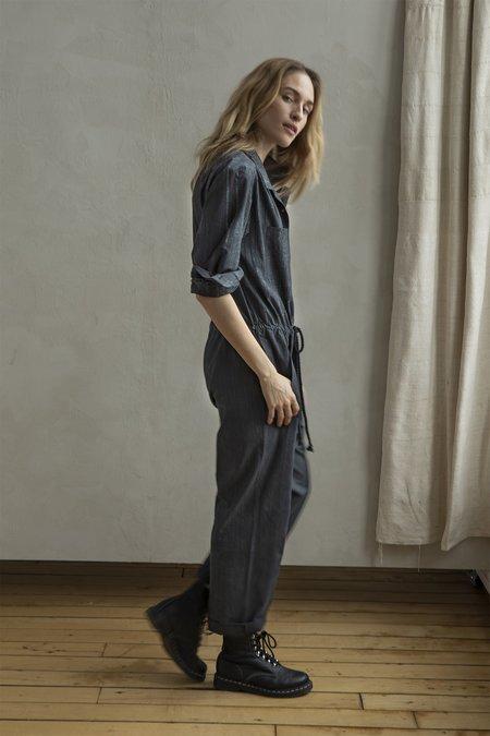 Nymane Donna Jumpsuit - Black Shibori