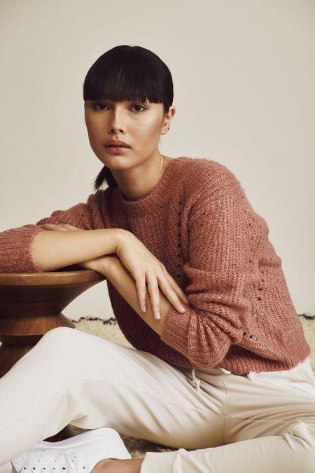 John & Jenn Larkin Sweater - Terra Cotta