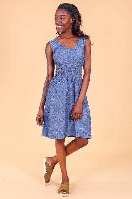 ModaspiaFiji Dress in Indigo Denim