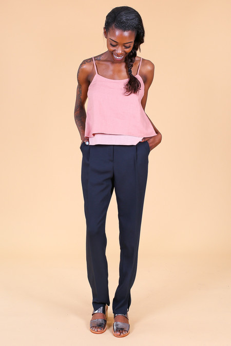 Svilu Tank Top in Cotto Pink