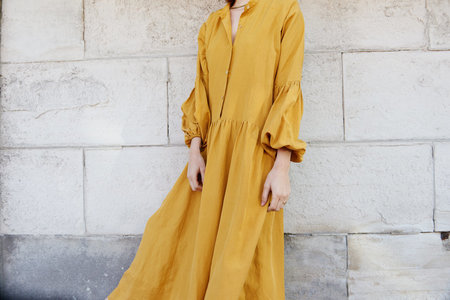 KAMPERETT Ferou Silk Linen Dress - Marigold