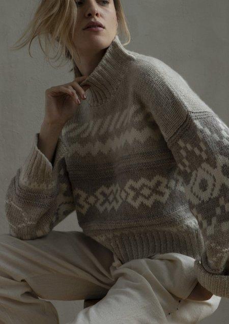 Nymane Nadia Sweater - Cream/Grey