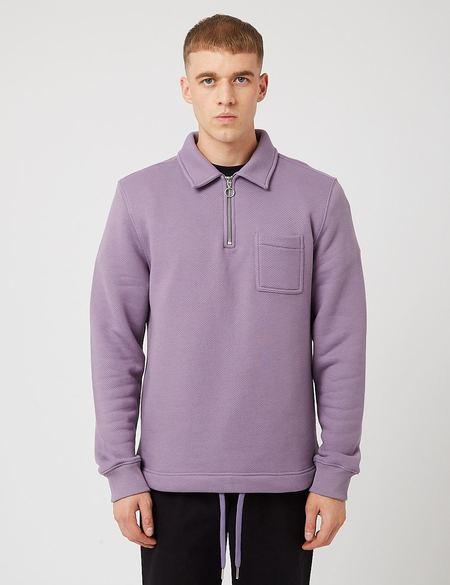 Bhode Everyday Half-Zip Collar Sweatshirt - Purple Sage