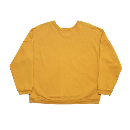 Unisex Olderbrother Drop Shoulder Crew - Turmeric