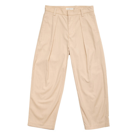 Unisex Olderbrother Pleated Trousers - Natural