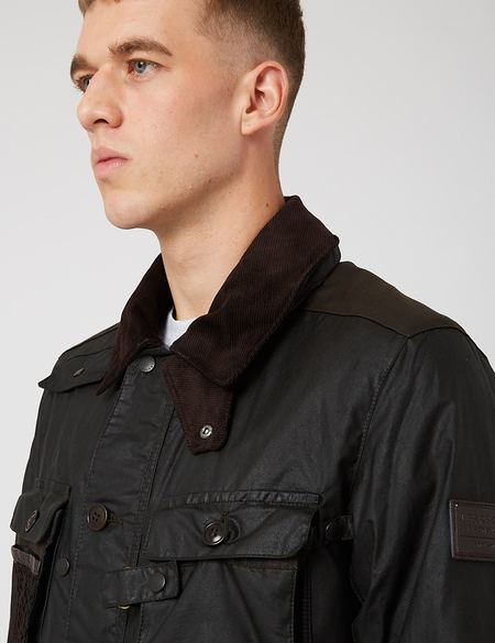 Barbour Supa-Fission Wax Jacket - Sage Green