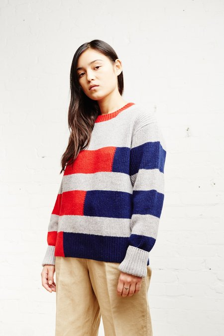 Country of Origin Stepped Crew - Red