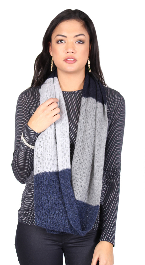 Quinn Hannah Color Block Snood in Denim