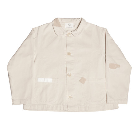 Olderbrother Patched Denim Chore Coat - Natural