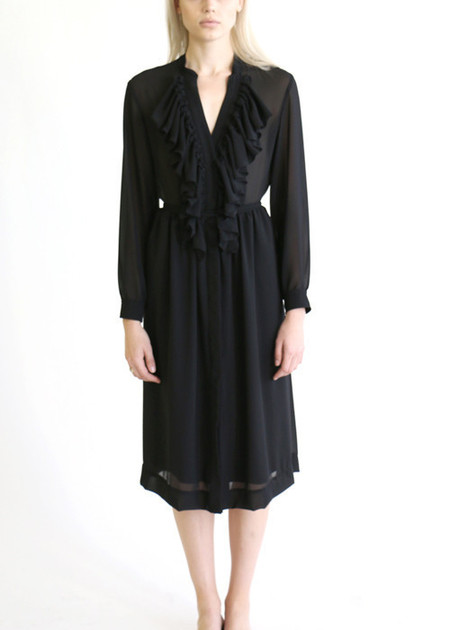 Heidi Merrick CHAMISE DRESS - BLACK