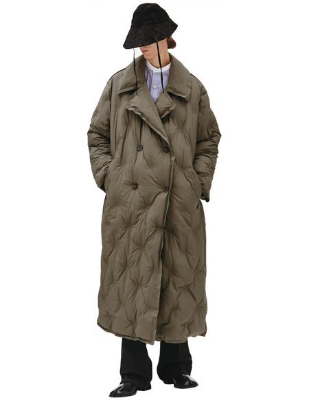 Maison Margiela Glam Slam Quilted overcoat - Khaki
