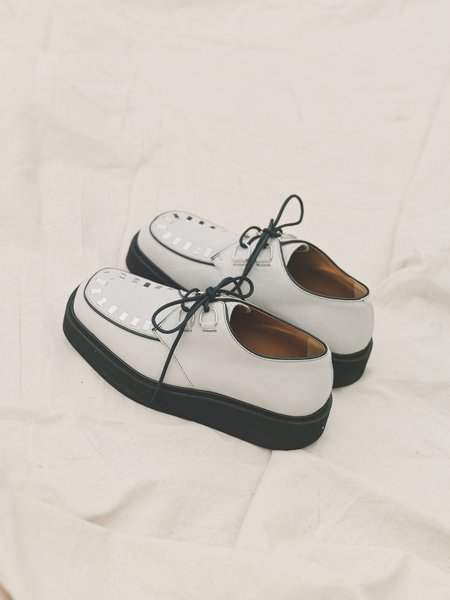 Marni Calfskin Square Toe Creeper shoes - White