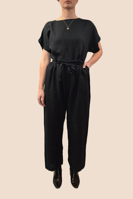 Black Crane Drawstring Pants | Black