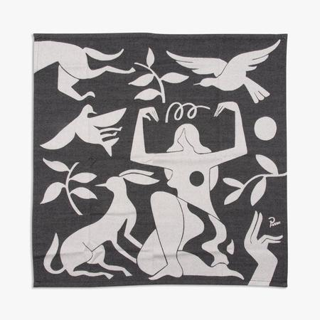 by Parra Earth Mother Kitchen Towel - Black