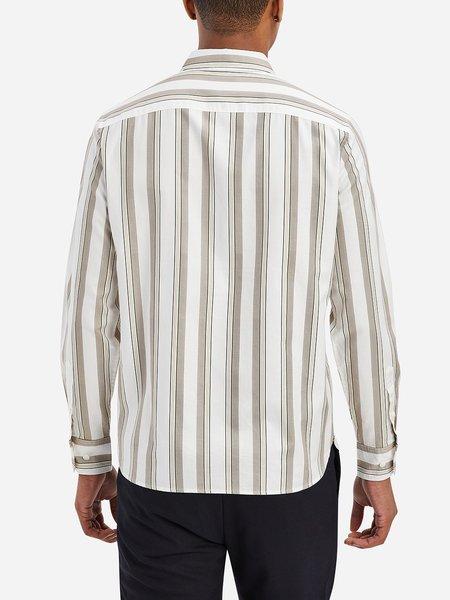 O.N.S M. Fulton Engineered Stripe Shirt - Portabella