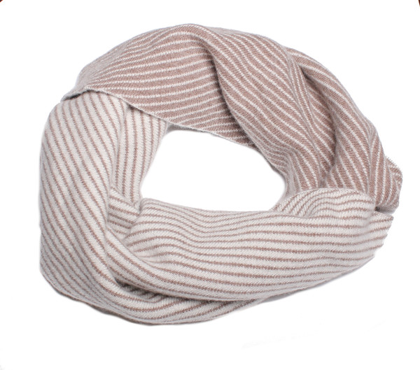Quinn Jacquard Snood in Natural