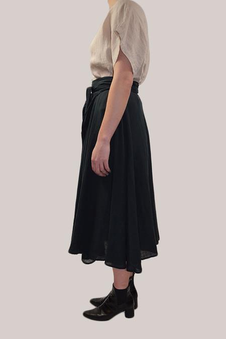 Black Crane Wrap Skirt | Black