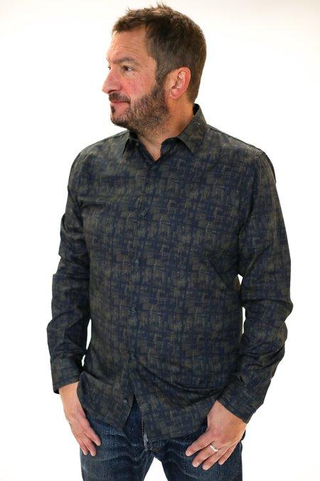 MATINIQUE Robo Printed Shirt - Dust Blue