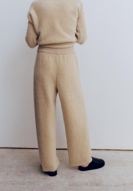 Mónica Cordera Shearling Pants - Beige