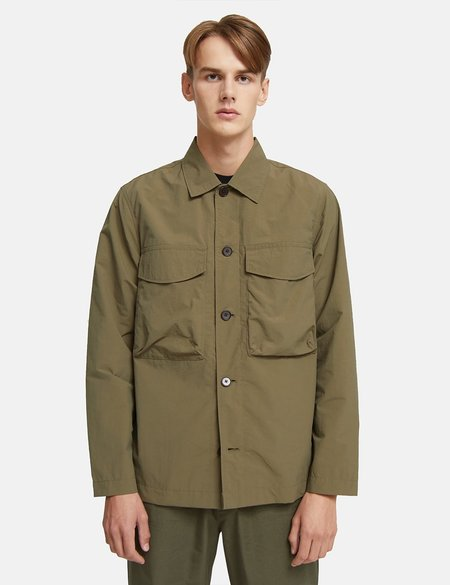 Wood Wood Fabian Tech Overshirt - Olive Green