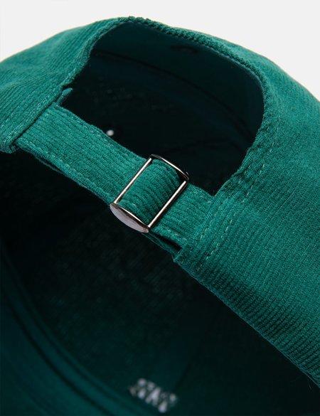 Wood Wood Low Profile Corduroy Cap - Emerald Green