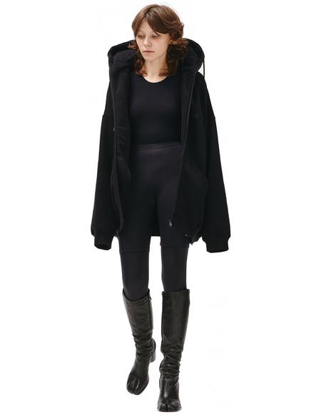 Balenciaga Hoodie With Inflatable At Hood - Black