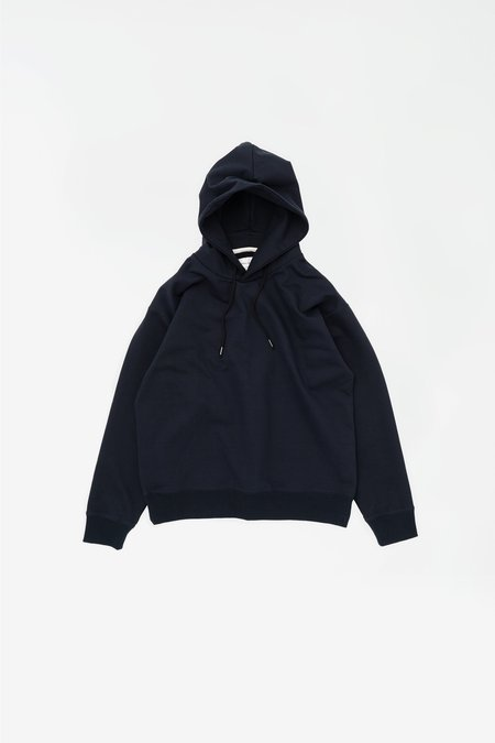 Still By Hand Heavy weight hoodie sweater - navy