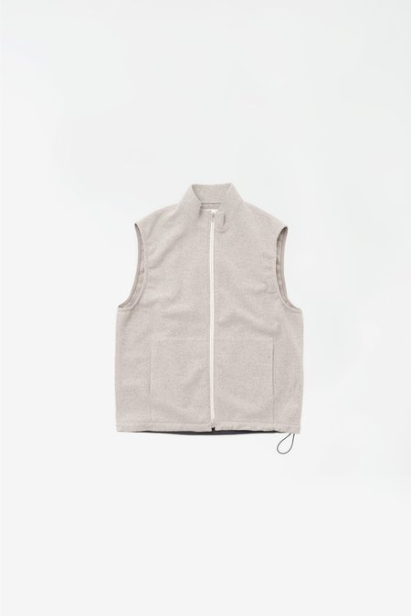 Still By Hand Urban fleece vest - taupe