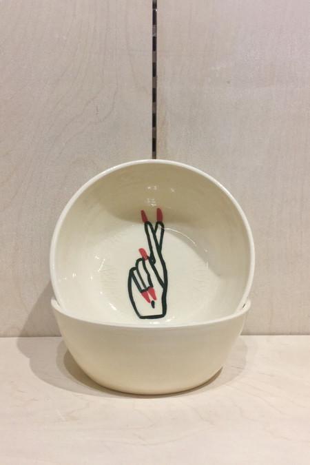Jed Ceramics Fingers Crossed Bowl