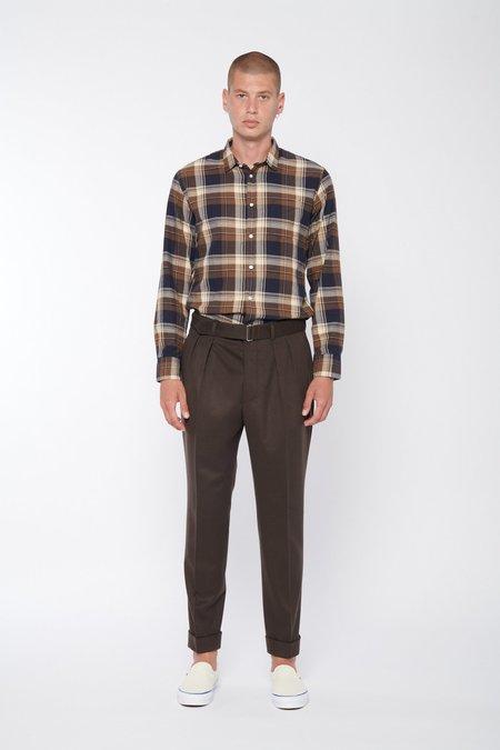 Officine Generale Lipp Japanese Organic Brush Cotton Check Shirt