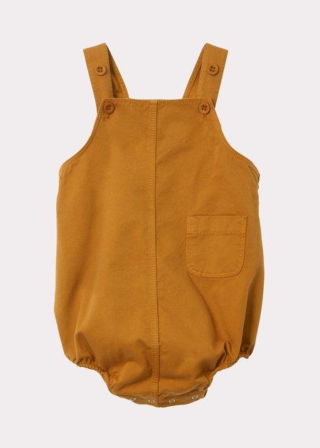 Kids Caramel Flury Baby Romper - Mustard Twill