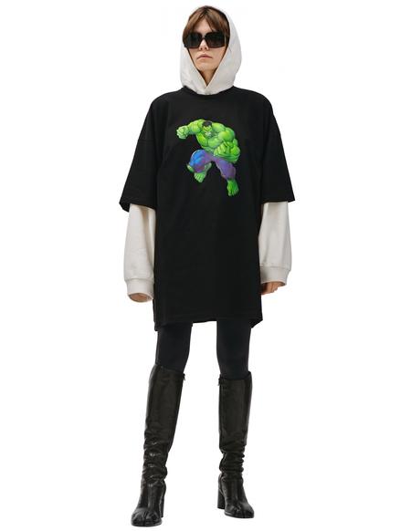 Balenciaga Balenciaga Ñ Marvel Printed T-shirt - Black