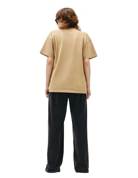 Balenciaga T-shirt with embroidered logo - Beige