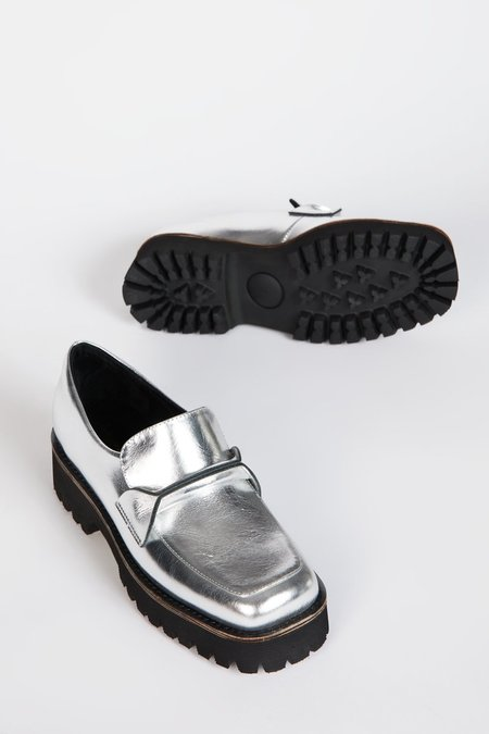 """""""INTENTIONALLY __________."""" HEFT shoes - Silver"""