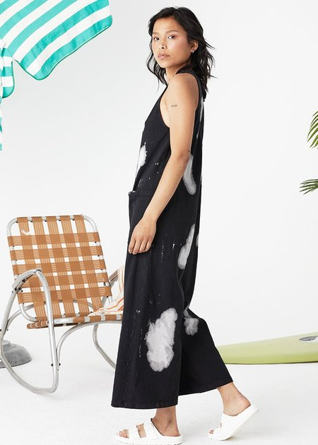 Back Beat Co. Organic Cotton Everyday Jumpsuit - Cloud/Vintage Black