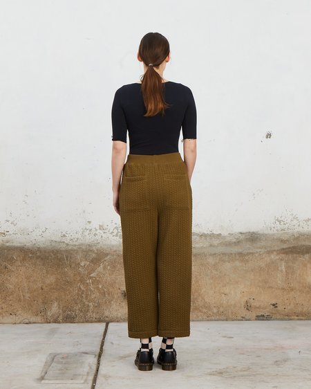 Ali Golden QUILTED PANTS - OLIVE