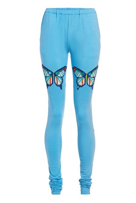 Abacaxi Churidaar Leggings with Eyelet Butterflies