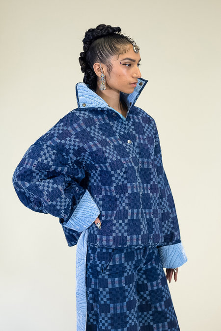 Abacaxi Quilted Reversible Jacket