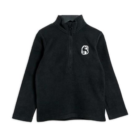 kids Mini Rodini Microfleece Zip Long Sleeve Jacket - Black