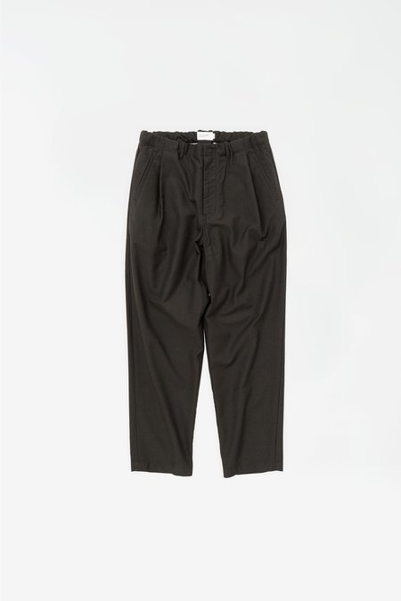 Still By Hand Deep tuck easy pants - charcoal