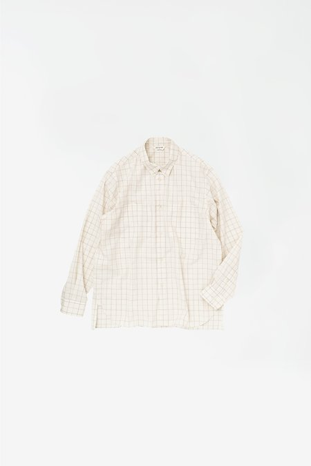 Still By Hand Double pocket BD shirt - white check
