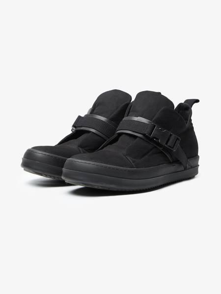 Rick Owens Drkshdw M Black Buckle Detailed Low Top Textile Sneakers