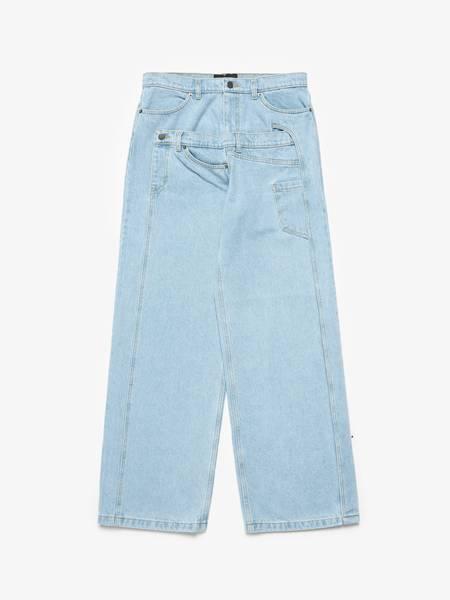 [Pre loved] RED SEPTEMBER  Double Waist Detailed Denim Jeans - Light Blue