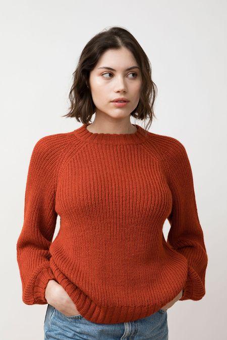 Jungle Folk Ximena Sweater - scarlet red
