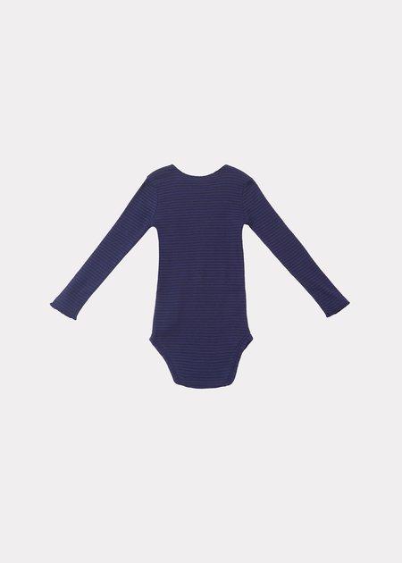 Kids Caramel Hanau Baby Romper - Blue Chocolate Stripe